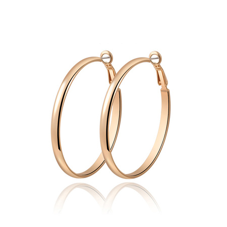 Classic Widen Yellow Gold Hoop Earrings