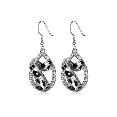 Water Droplets Leopard Grain Earrings