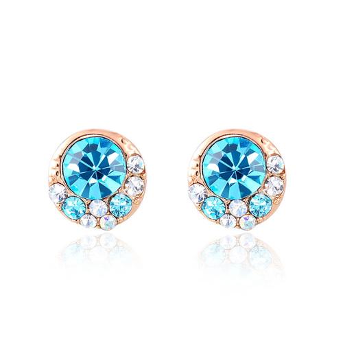 Sapphire Rose Gold Stud Earrings