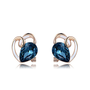 Teardrop Sapphire Tendril Stud Earrings
