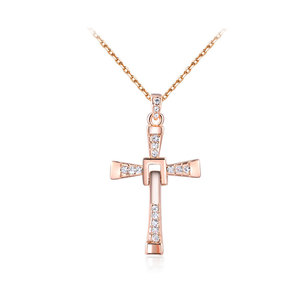 Buckle Knot Cross Pendant Necklace