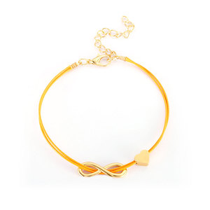 Endless Love 18K Gold & Cord Bracelet