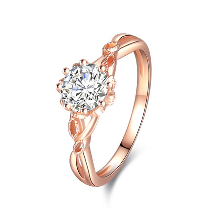 Lipstick Mark Rose Gold Diamond Ring