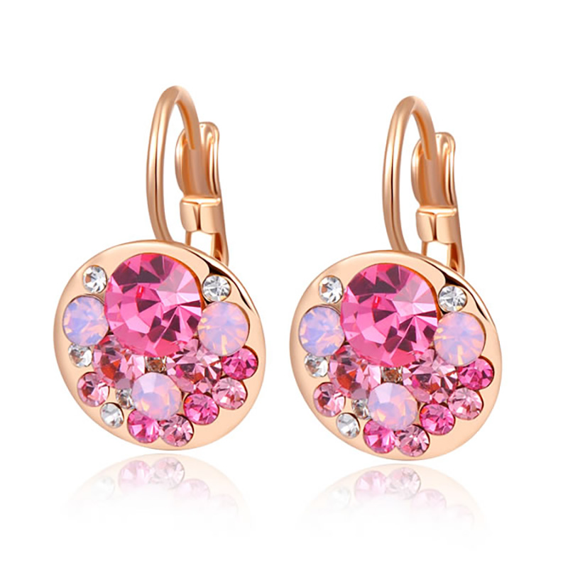 Heaps Pink Diamond Clip Earrings