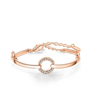 Diamond Ring Bangle - Rose