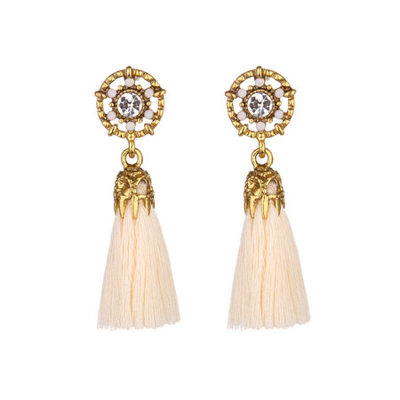 Vintage Pattern Tassel Earrings