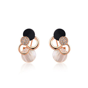 Cloud Rose Gold Clip Earrings