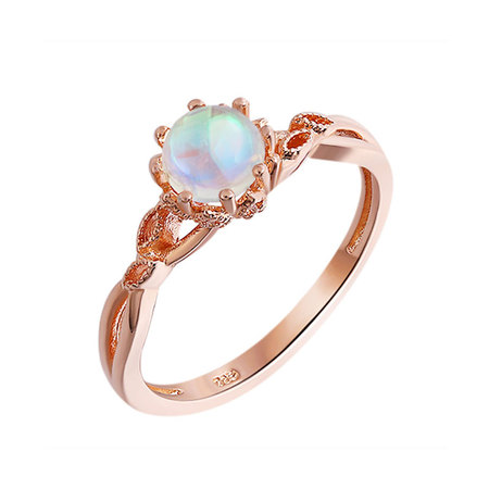 Natural Moonstone Rose Gold Ring