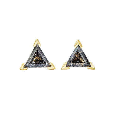 Triangle Arrows Space Stone Stud Earrings