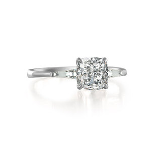 Elegance Cushion Diamond White Gold Ring