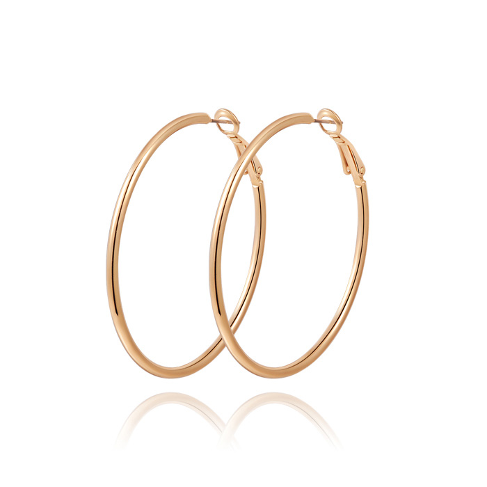 Classic Yellow Gold Hoop Earrings