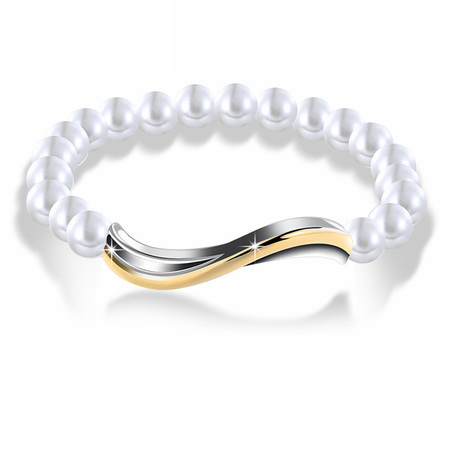 Simple Two-tone Pearl Bracelet