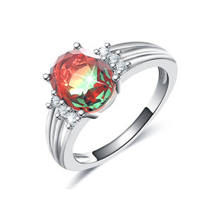 Colorful Tourmaline White Gold Ring