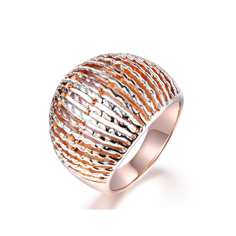 Ripple Two-Tone Men's Ring