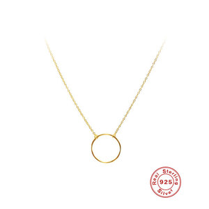 Circle Pendant 925 Sterling Silver Necklace