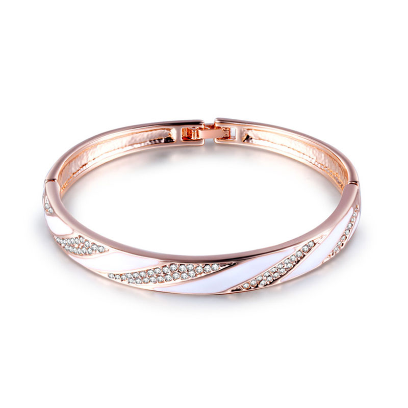 Interval Enamel Rose Gold Bangle