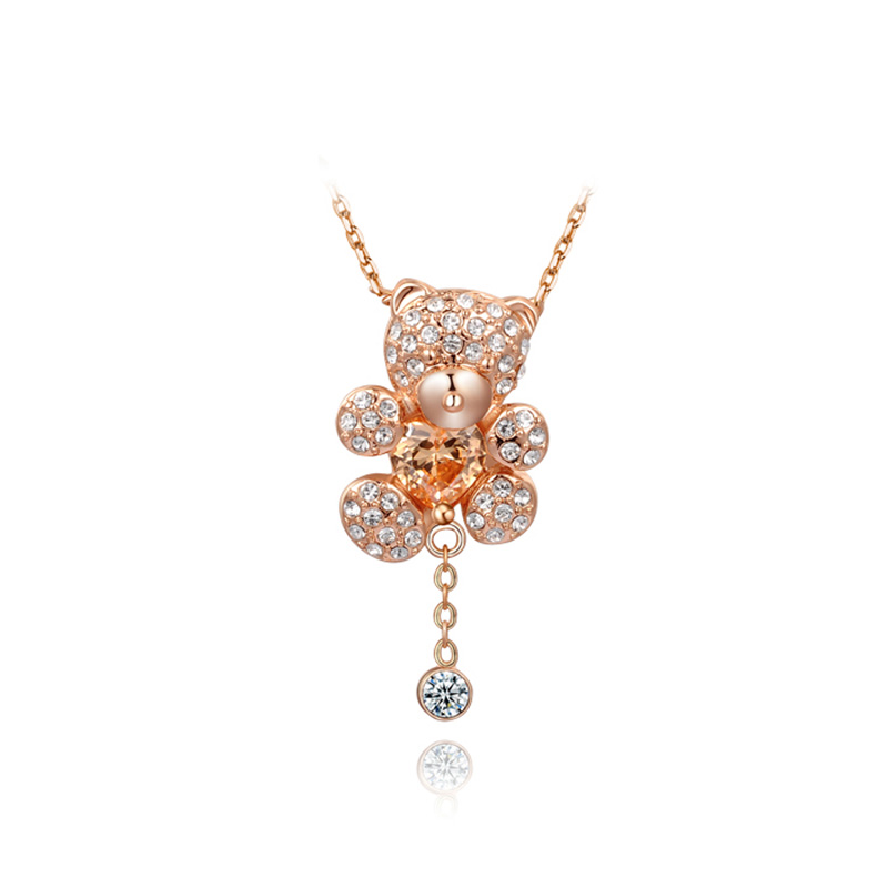 Little Bear Necklace - Rose Gold