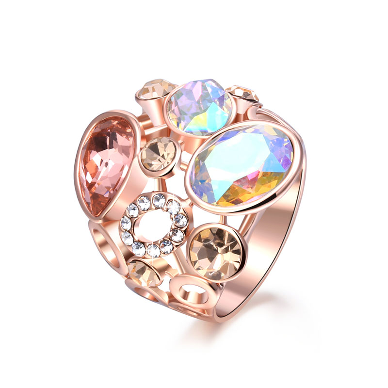 Multiple Shapes & Multicolor Diamond Ring