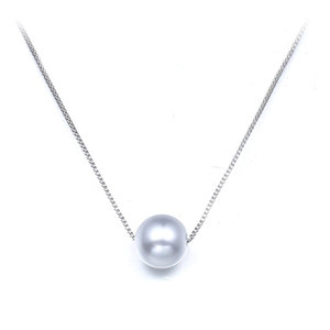 A Pearl Pendant Sterling Silver Necklace