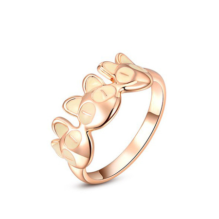 Rose Gold Kitty Ring