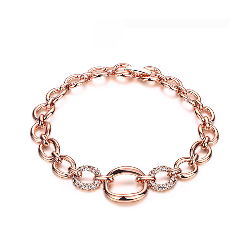 Circle Connection Rose Gold Bracelet