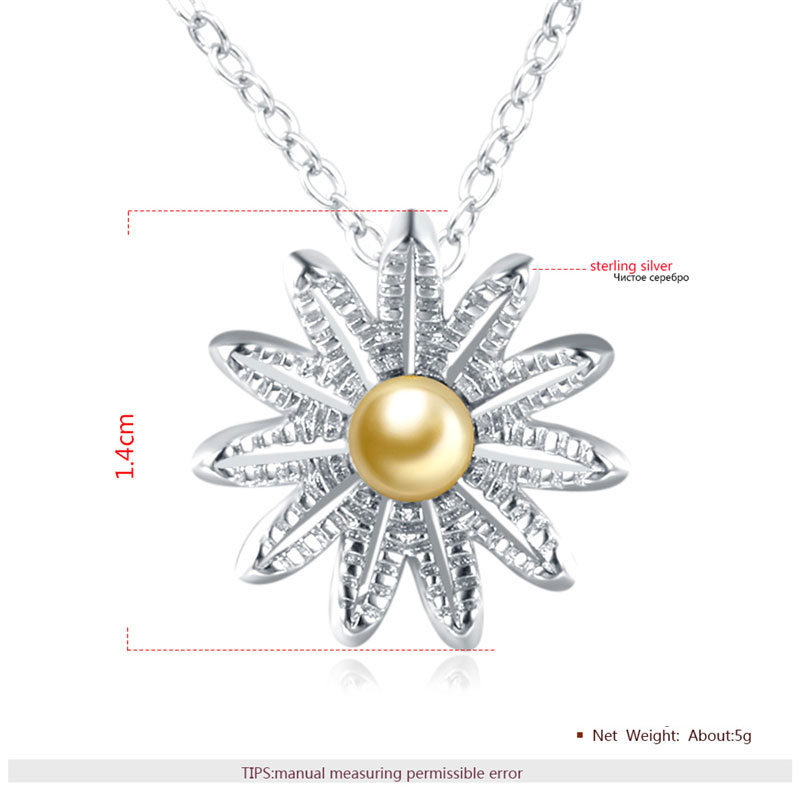 Originality Flower 925 Sterling Silver Necklace
