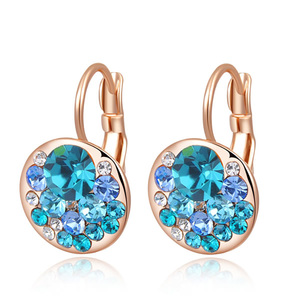 Heaps Sapphire Rose Gold Earrings