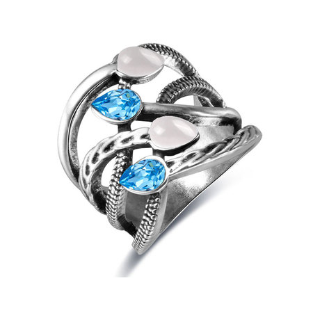 Teardorp Sapphire Intersect Ring