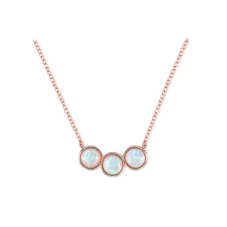 Origin of Love Opal Rose Gold Necklace