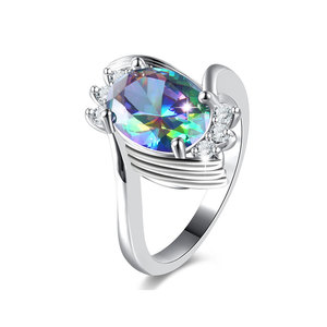 Multi-Colour Tweak Oval Diamond Ring