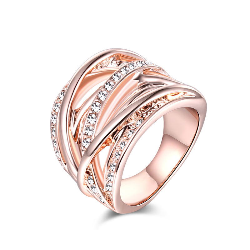 Grade Separation Rose Gold Diamond Ring