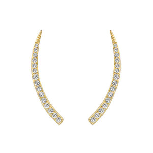 Ivory Diamante 18K Gold Earrings