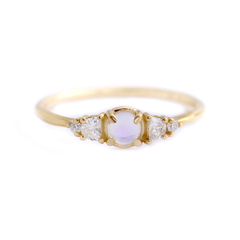 Womanliness Moonstone 18K Ring