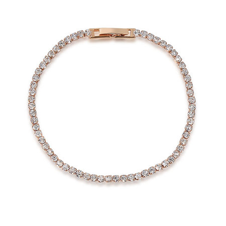 Even Diamond Rose Gold Tennis Bracelet