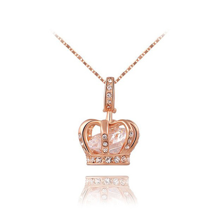 Crown Treasure Rose Gold Pendant