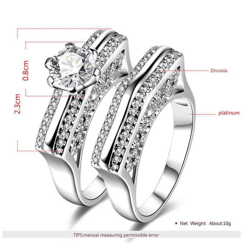 Love Ridge White Gold Diamond Couple Rings