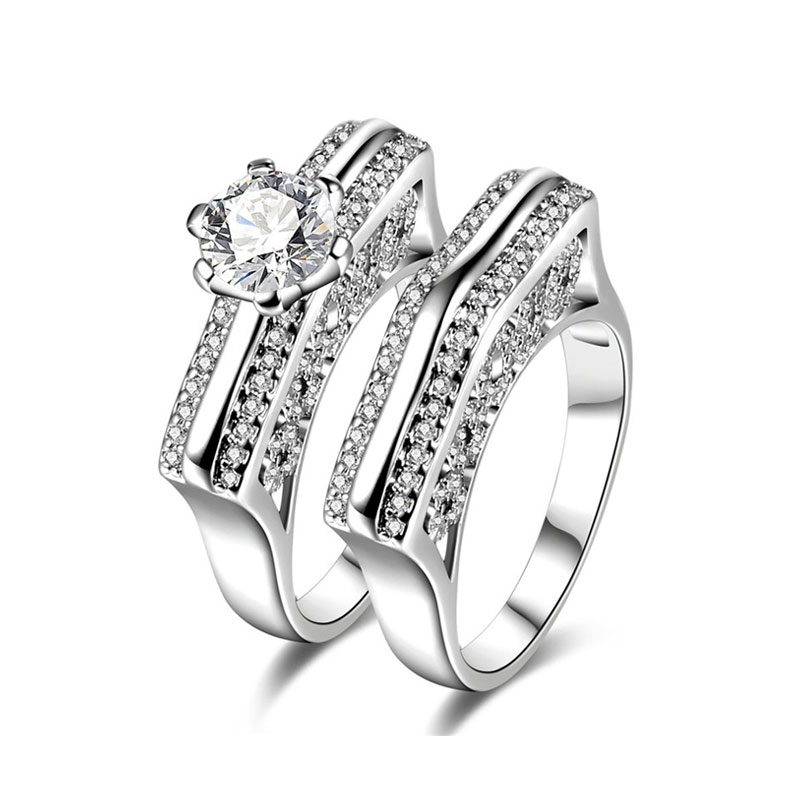 Love Ridge Diamond Couple Rings