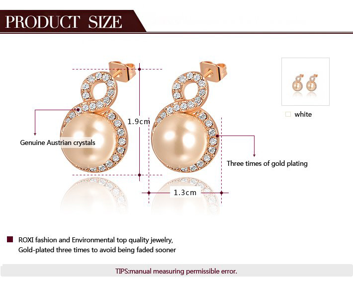 8 Pearl Stud Earrings