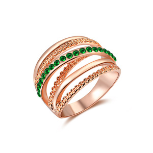 Multi-Wire Emerald Ring