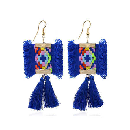 Hand Embroidery Tassel Earrings White Wings