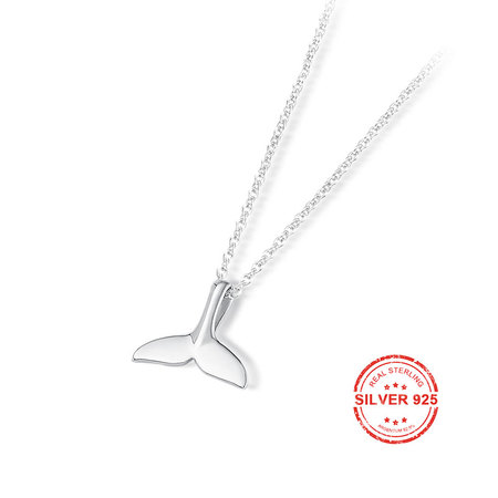 Dolphin Tail 925 Sterling Silver Necklace