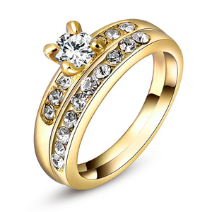 Yellow Gold Diamond Wedding Ring Set
