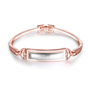 Double D Rectangle Bangle
