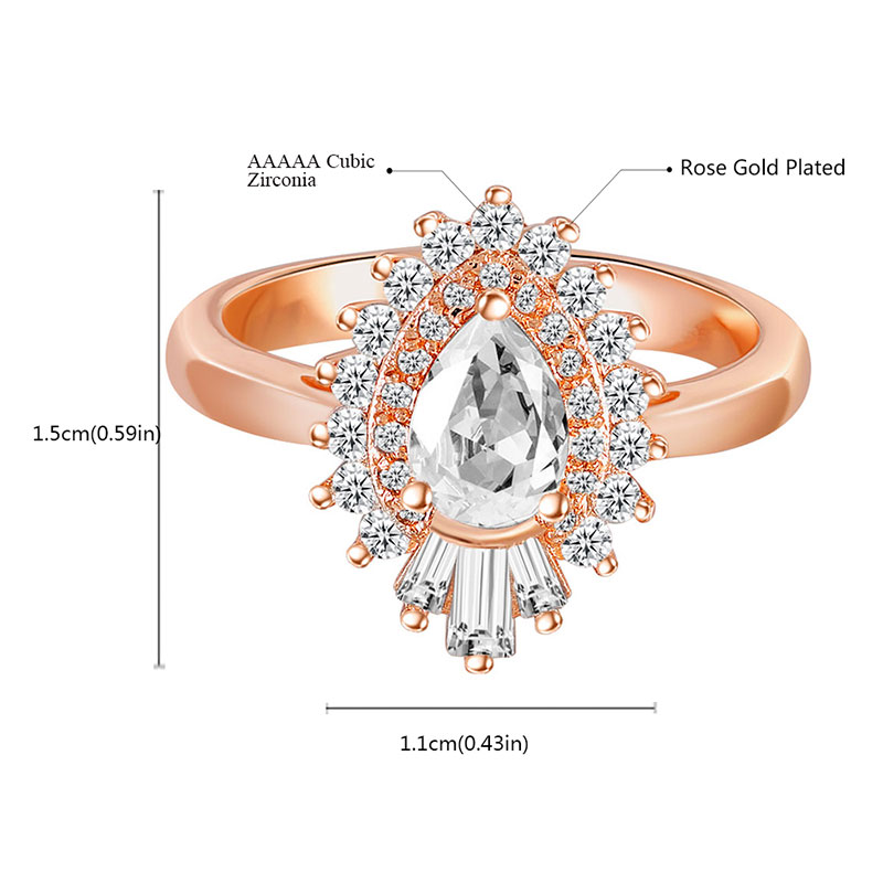 Tribal Leader Rose Gold Teardrop Diamond Ring