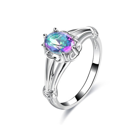 Flames Oval Colorfully Diamond Ring