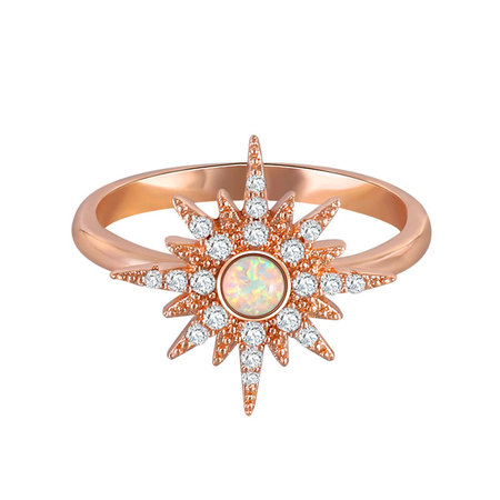 Hot Sun Opal Rose Gold Ring