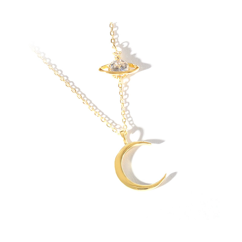 Star Crescent Sterling Silver Pendant