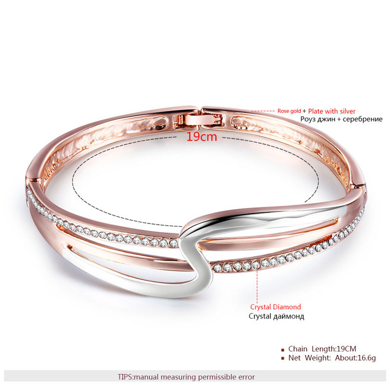 Lightning Two-Tone Fine Bangle