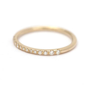 Classic Beaded 18k Diamond Ring