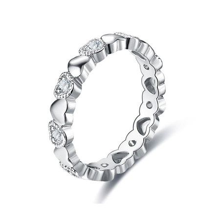 Heart to Heart Diamond White Gold Ring